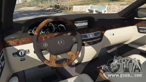 GTA 5 Mercedes-Benz S500 W221 v0.4 [Alpha] right side view