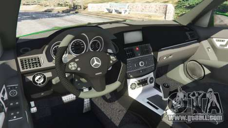 GTA 5 Mercedes-Benz C63 (W204) AMG right side view