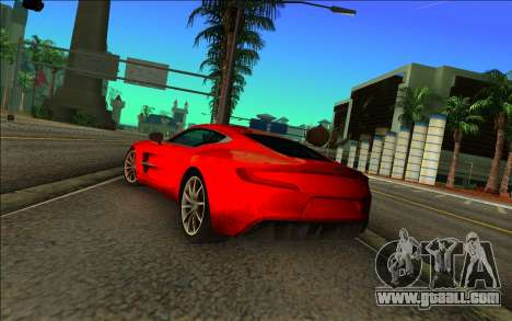 Aston Martin One-77 for GTA Vice City left view
