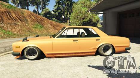 GTA 5 Nissan Skyline 2000 GT-R 1970 v0.1 [Beta] left side view