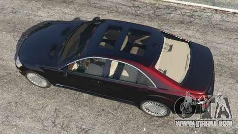 GTA 5 Mercedes-Benz S500 W221 v0.4 [Alpha] back view
