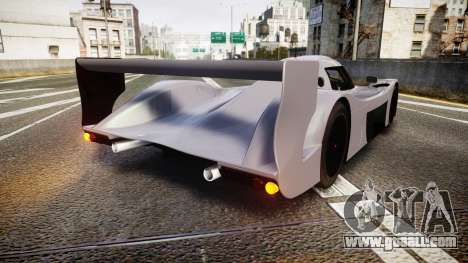 Toyota GT-One TS020 black spoiler for GTA 4 back left view