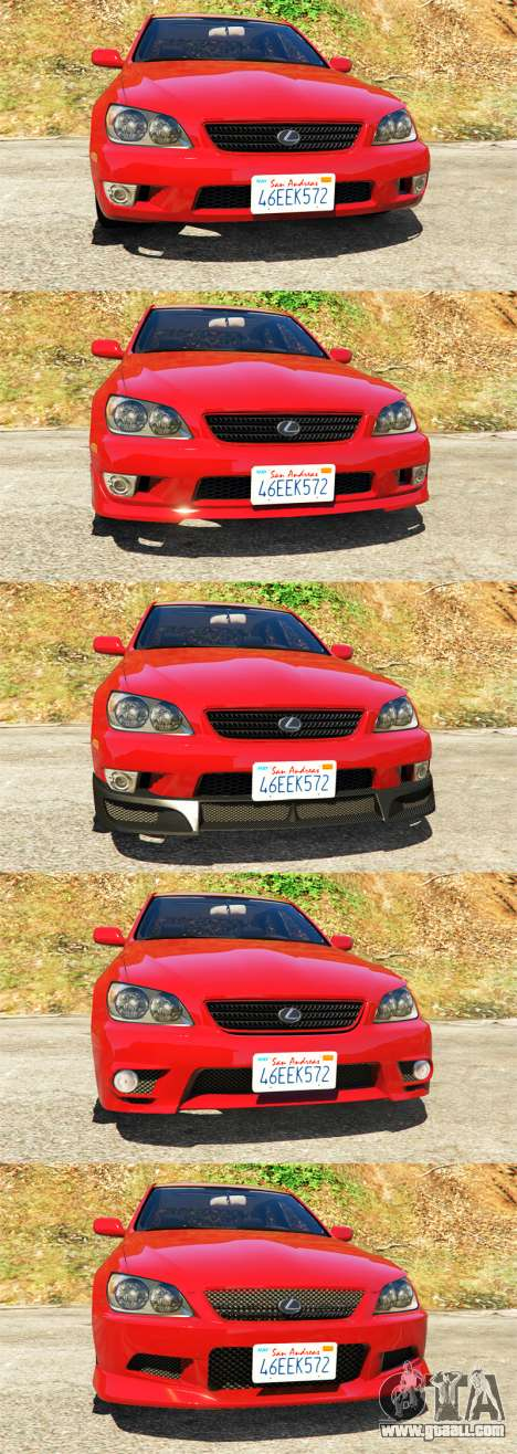 GTA 5 Lexus IS300 front right side view