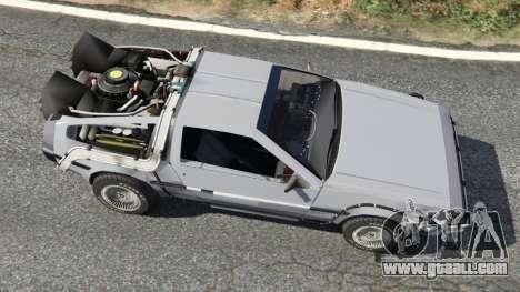 GTA 5 DeLorean DMC-12 Back To The Future v0.2 back view