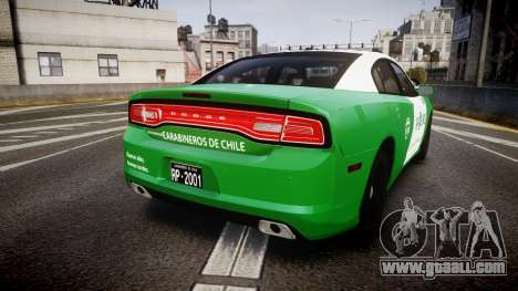 Dodge Charger Carabineros de Chile [ELS] v2.0 for GTA 4 back left view