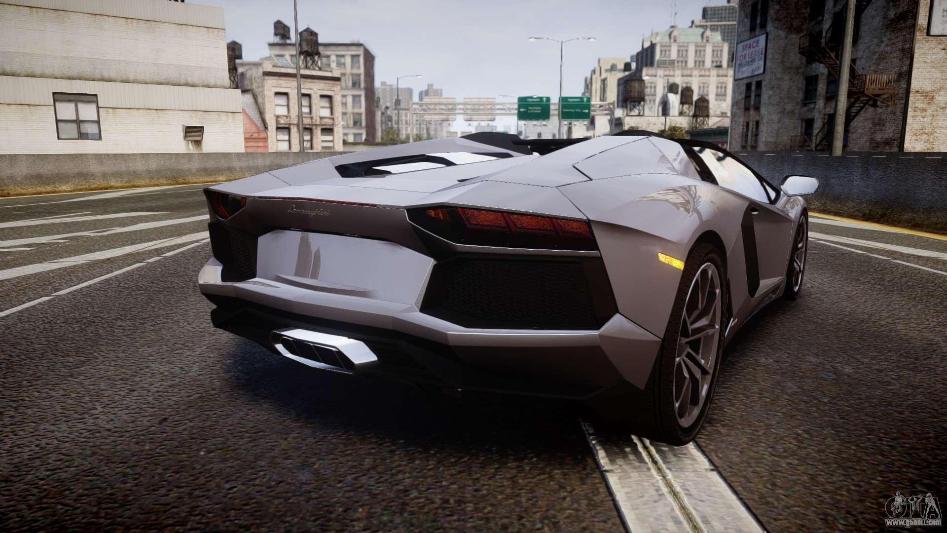 Lamborghini Aventador Roadster for GTA 4