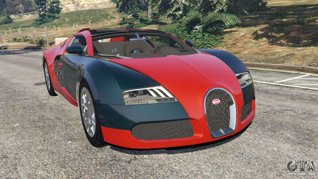 bugatti veyron grand sport v3 3 for gta 5. Black Bedroom Furniture Sets. Home Design Ideas