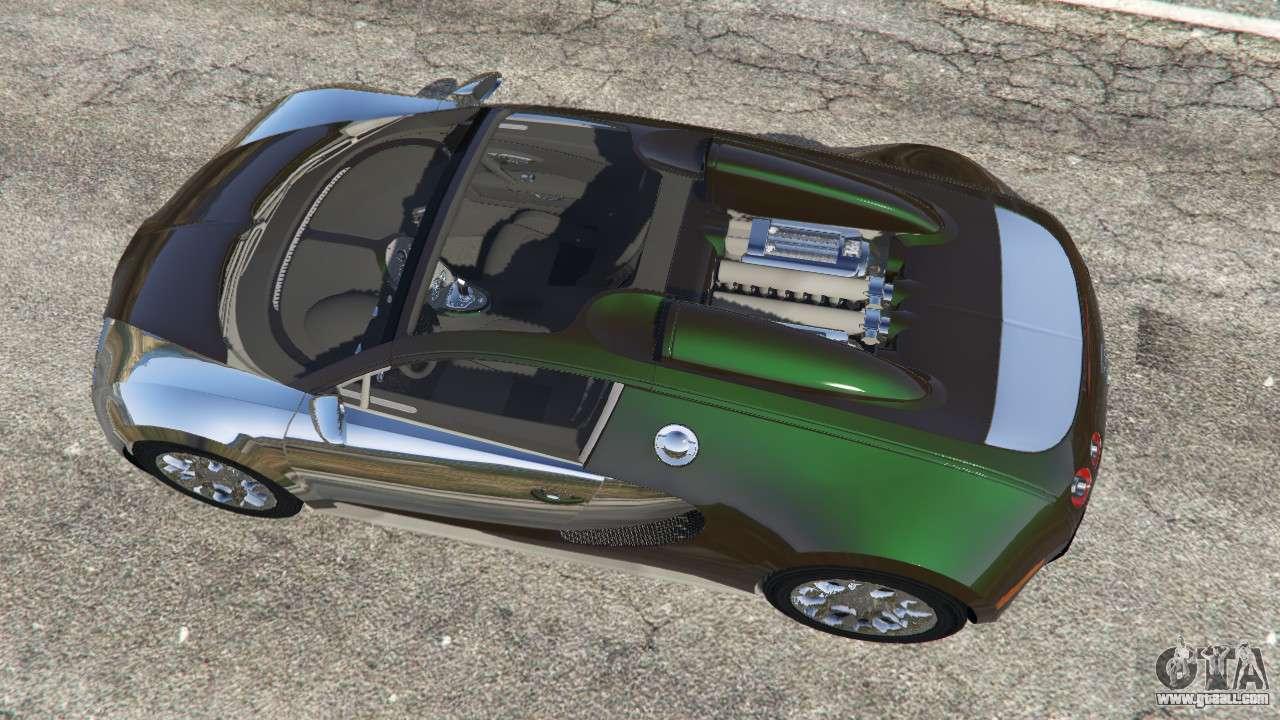 bugatti veyron grand sport v3 0 for gta 5. Black Bedroom Furniture Sets. Home Design Ideas