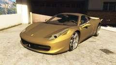 Ferrari 458 Italia v0.9.3 for GTA 5