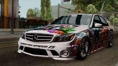 Mercedes-Benz C63 AMG Momoka and Nonoka Itasha for GTA San Andreas