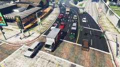 Realistic filling the streets and roads 8GBRAM