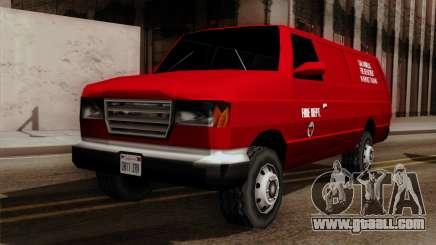 SAFD In Service Training Van for GTA San Andreas