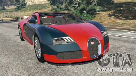 Bugatti Veyron Grand Sport v3.3 for GTA 5