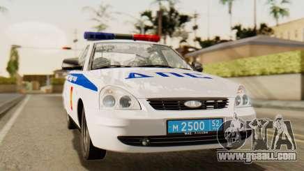 Lada 2170 Priora traffic police of the Nizhniy Novgorod region for GTA San Andreas