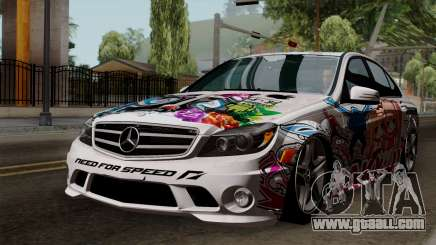 Mercedes-Benz C63 AMG Momoka and Nonoka Itasha for GTA San Andreas