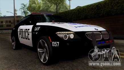 BMW M6 E63 Police Edition for GTA San Andreas