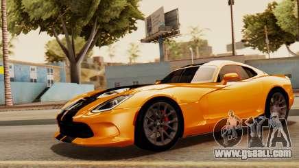 Dodge Viper SRT GTS 2013 IVF (HQ PJ) No Dirt for GTA San Andreas