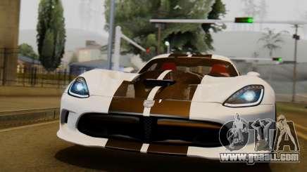 Dodge Viper SRT GTS 2013 IVF (HQ PJ) LQ Dirt for GTA San Andreas