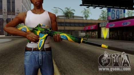 Brasileiro M4 v2 for GTA San Andreas