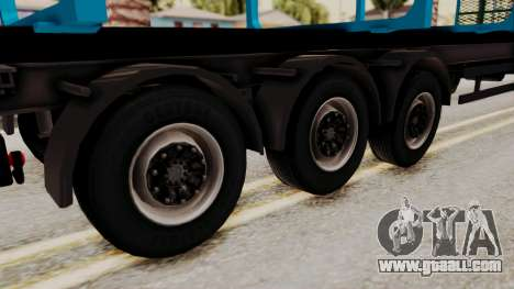 Wood Transport Trailer from ETS 2 for GTA San Andreas back left view