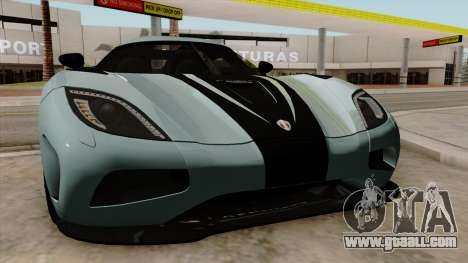 Koenigsegg Agera R 2014 for GTA San Andreas side view