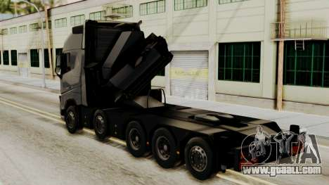 Volvo FH Euro 6 10x4 Exclusive High Cab for GTA San Andreas left view