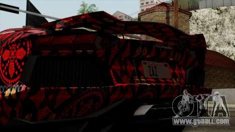Lamborghini Aventador LP-700 Batik for GTA San Andreas inner view