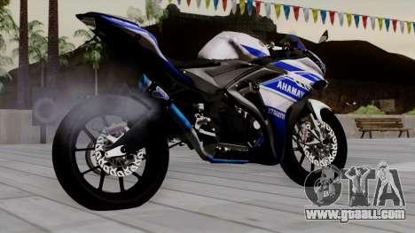 Yamaha YZF R-25 GP Edition 2014 for GTA San Andreas left view