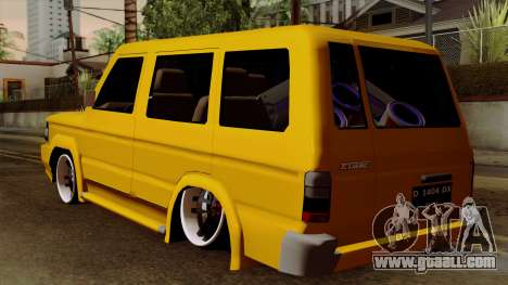 Toyota Kijang Tuned for GTA San Andreas left view