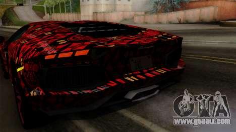 Lamborghini Aventador LP-700 Batik for GTA San Andreas interior