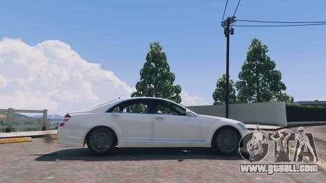 GTA 5 Mercedes-Benz S-Class W221 v0.5.3 left side view