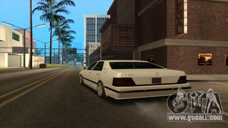 Mercedes Benz W140 S600 for GTA San Andreas back left view