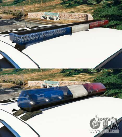GTA 5 Ford Crown Victoria 1999 Police v0.9 front right side view