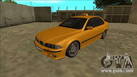 1999 BMW 530d E39 Taxi for GTA San Andreas back left view