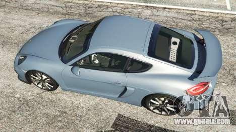 GTA 5 Porsche Cayman 2016 back view