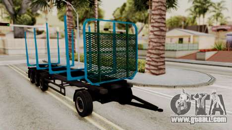 Wood Transport Trailer from ETS 2 for GTA San Andreas right view