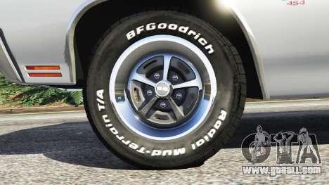 GTA 5 Chevrolet Chevelle SS 1970 v1.0 rear right side view