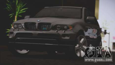 BMW X5 E53 for GTA San Andreas back left view