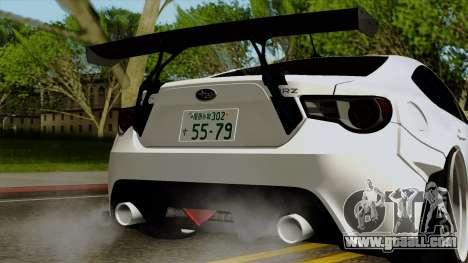 Subaru BRZ 2010 Rocket Bunny v1 for GTA San Andreas inner view