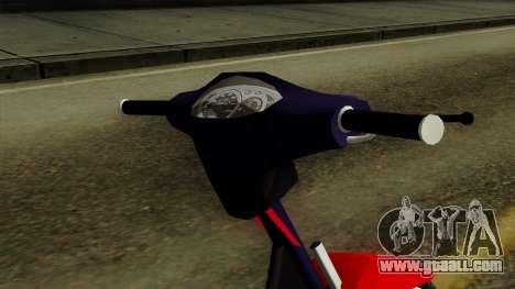 Gilera Smash for GTA San Andreas back view