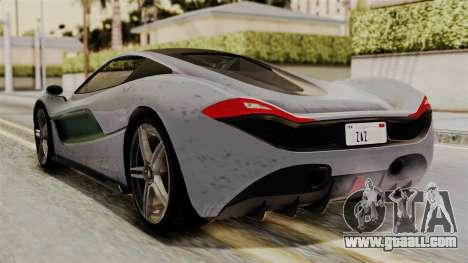 GTA 5 Progen T20 SA Style for GTA San Andreas left view