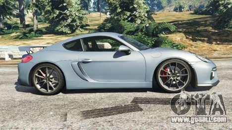 GTA 5 Porsche Cayman 2016 left side view