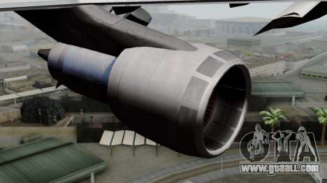 Boeing 747-200 Air France for GTA San Andreas right view