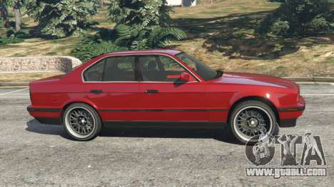 GTA 5 BMW 535i (E34) left side view