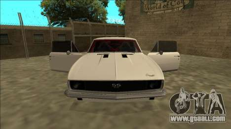 Chevrolet Camaro SS Drift for GTA San Andreas inner view