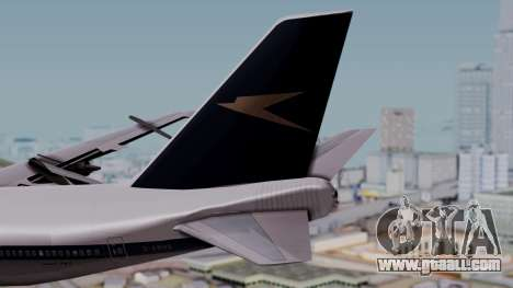 Boeing 747-100 British Overseas Airways for GTA San Andreas back left view