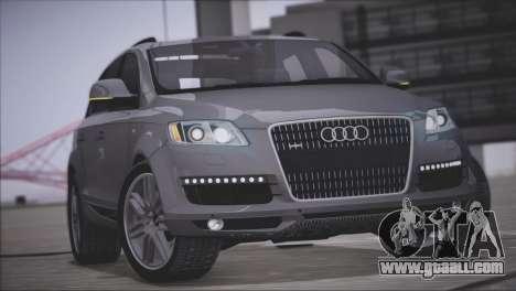 Audi Q7 2008 for GTA San Andreas inner view