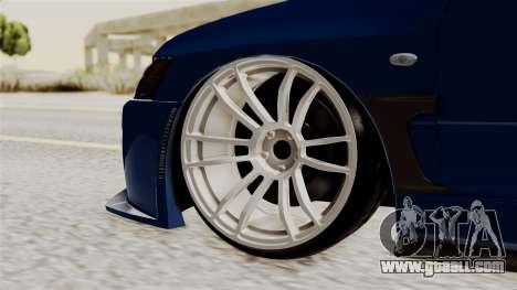 Mitsubishi Lancer Evolution v2 for GTA San Andreas back left view