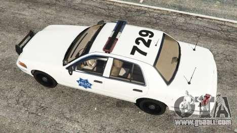 GTA 5 Ford Crown Victoria 1999 Police v0.9 back view