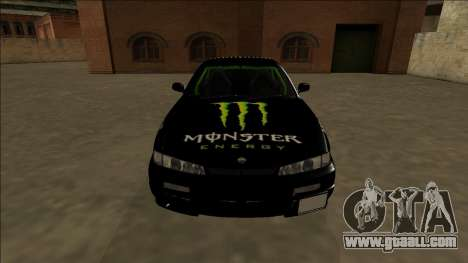 Nissan 200SX Drift Monster Energy Falken for GTA San Andreas upper view
